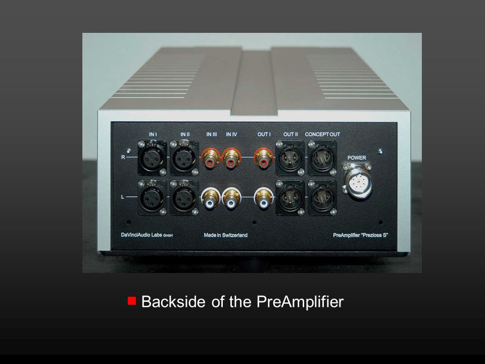 Backside of the PreAmplifier