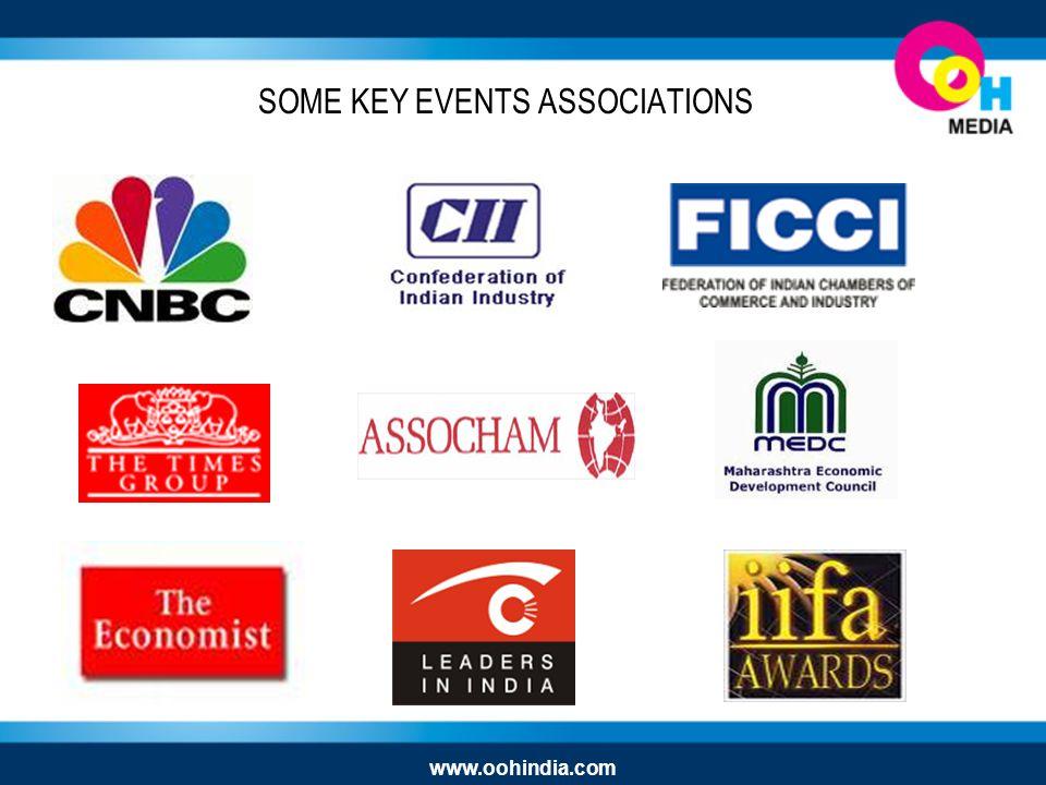 SOME KEY EVENTS ASSOCIATIONS www.oohindia.com