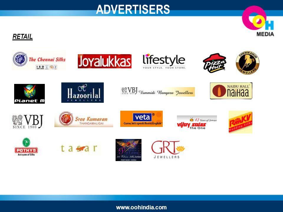RETAIL ADVERTISERS www.oohindia.com