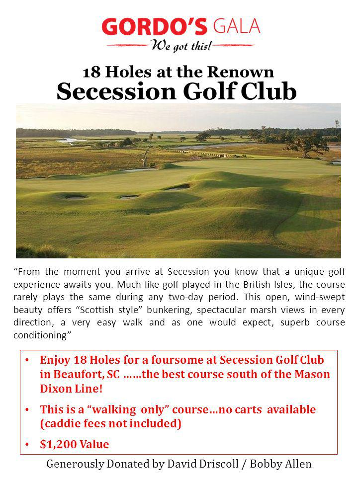 From the moment you arrive at Secession you know that a unique golf experience awaits you.