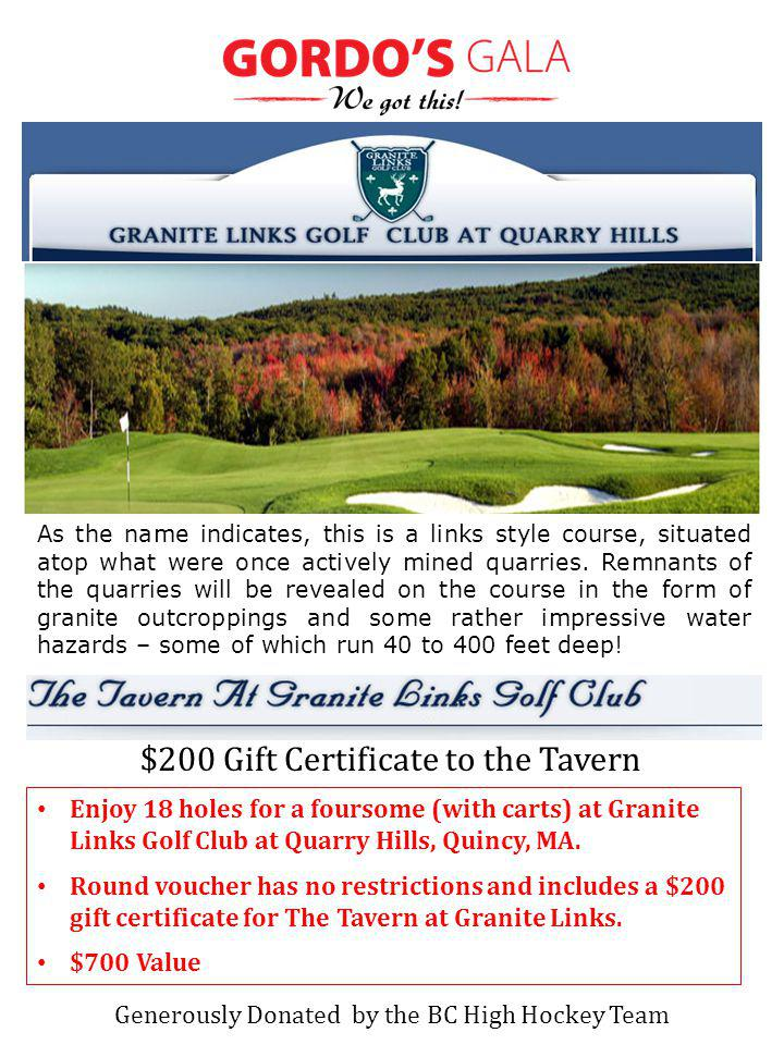 Enjoy 18 holes for a foursome (with carts) at Granite Links Golf Club at Quarry Hills, Quincy, MA. Round voucher has no restrictions and includes a $2
