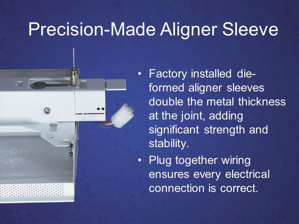 Precision-Made Aligner Sleeve Factory installed die- formed aligner sleeves double the metal thickness at the joint, adding significant strength and stability.