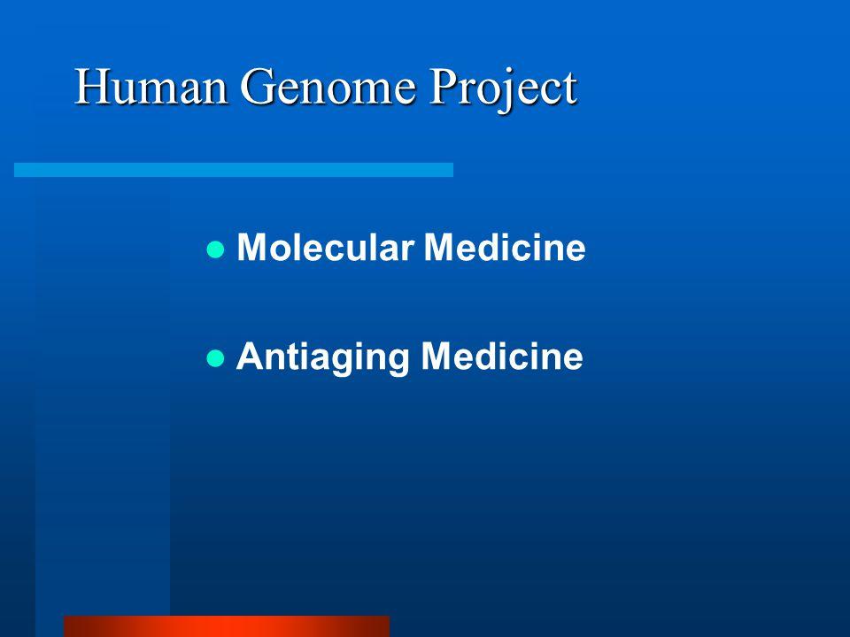 Human Genome Project Molecular Medicine Antiaging Medicine