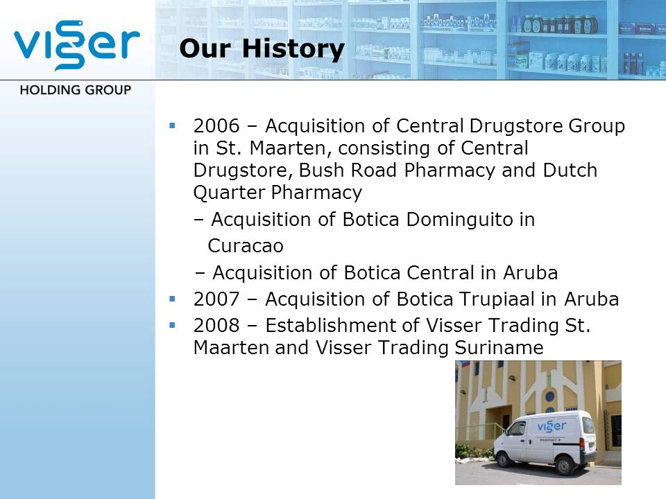 Our History 2006 – Acquisition of Central Drugstore Group in St.