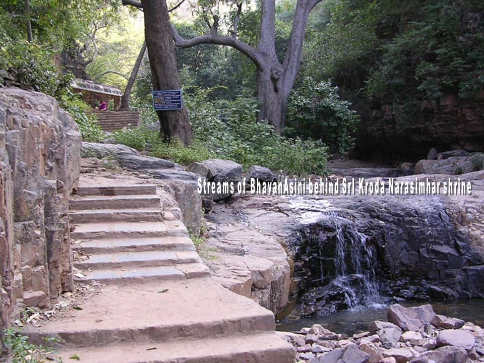 Bridge across the rough terrain to reach SrI Kroda Narasimha Sannidhi - built under the guidance of Prakrutham SrImad Azhagiya Singar SrI Kroda Narasimha Swamy !
