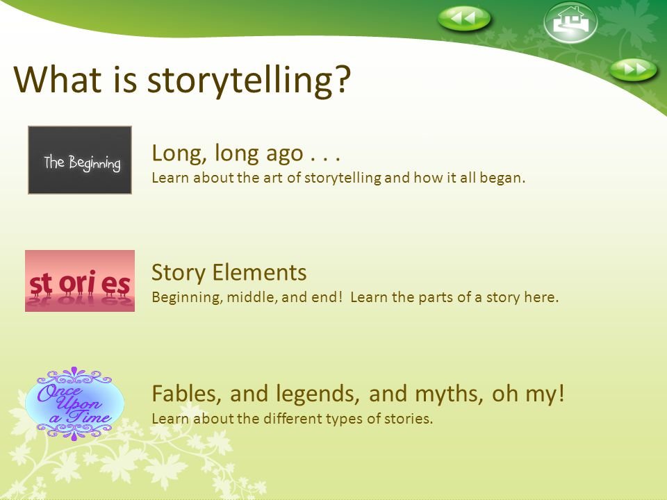 Lesson 1-What Is Storytelling? Begin