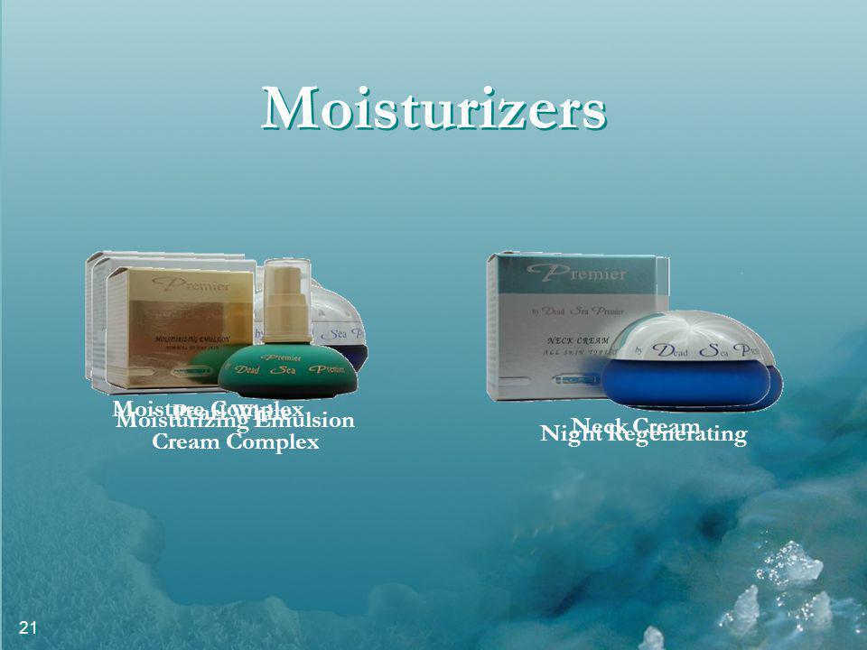 21 Moisturizers Moisture Complex Night Regenerating Pearl White Cream Complex Moisturizing Emulsion Neck Cream