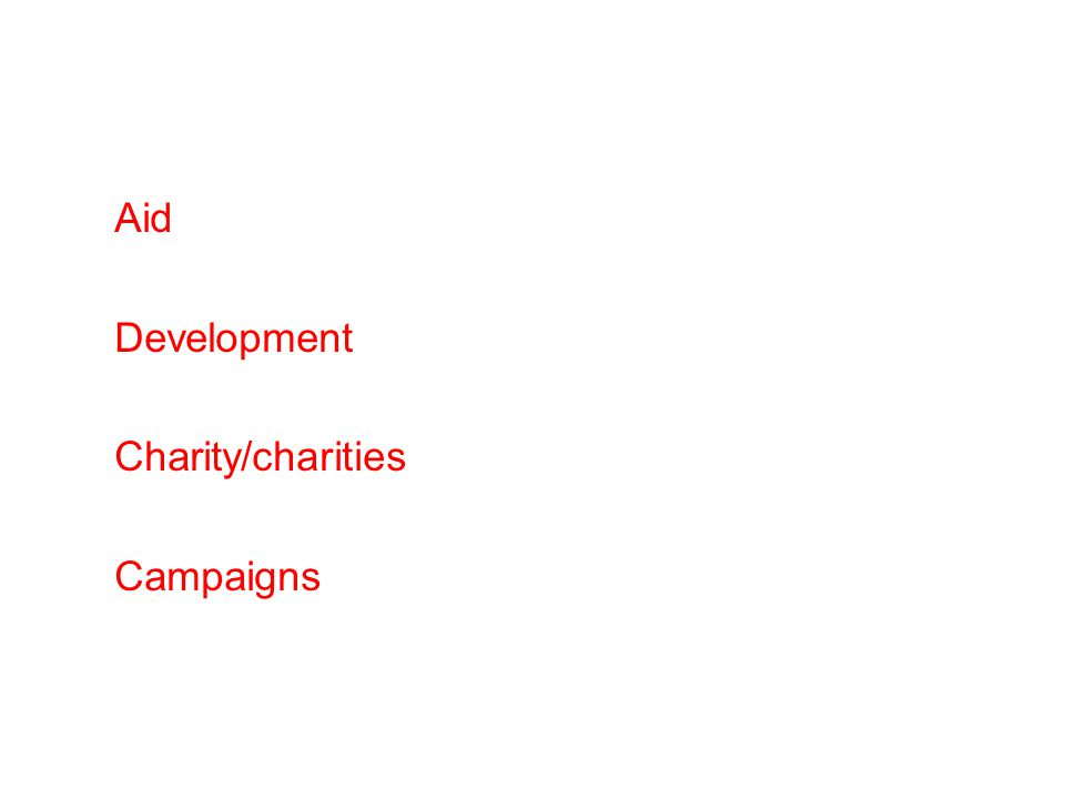 Aid Development Charity/charities Campaigns