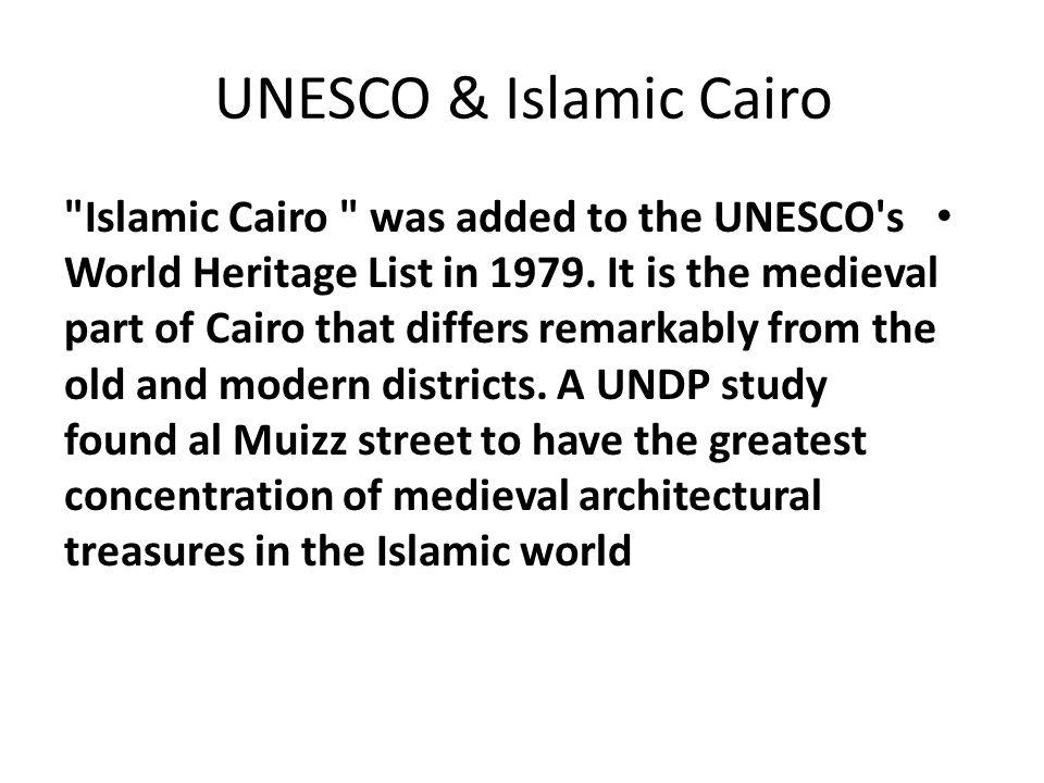 Case Study Al-Muizz Street Islamic Cairo