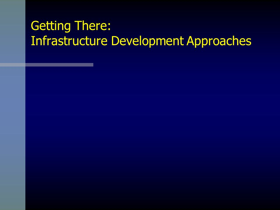 Getting There: Infrastructure Development Approaches