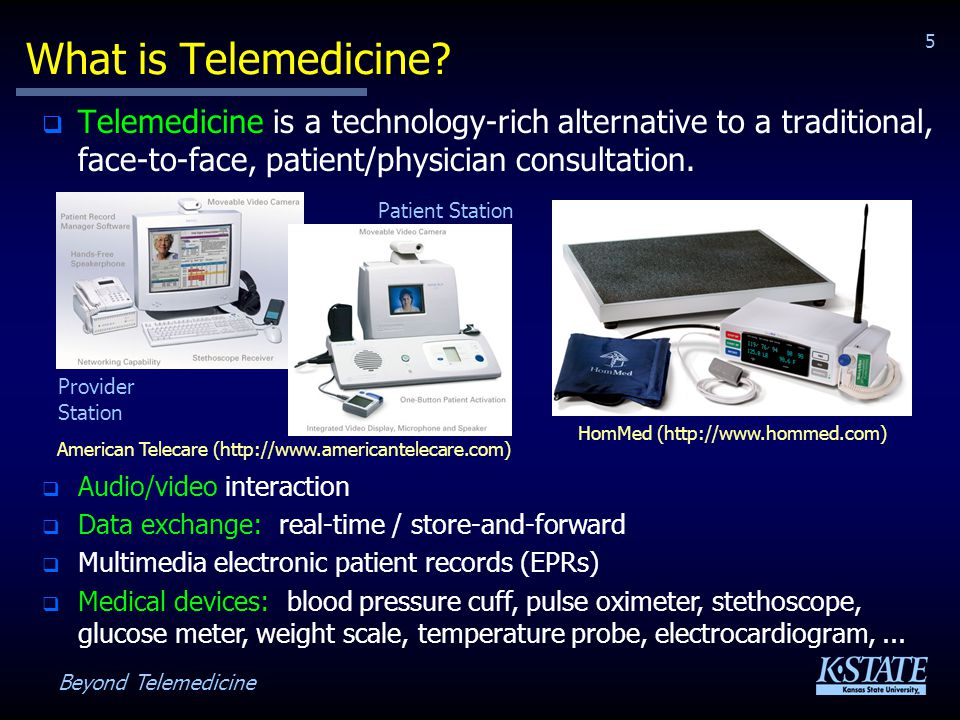 Beyond Telemedicine 5 What is Telemedicine.