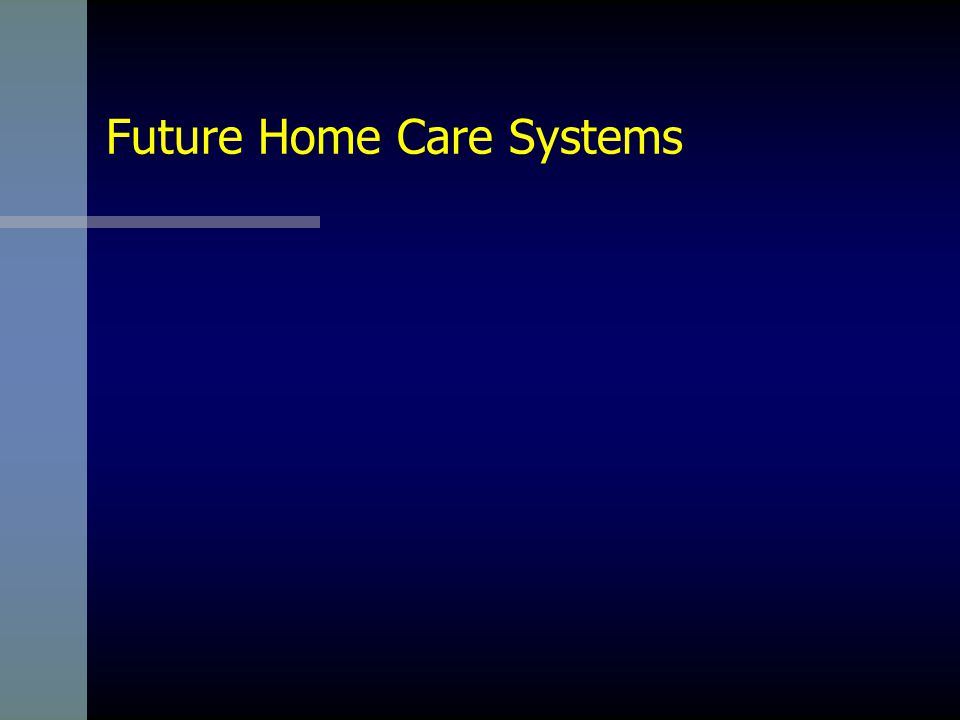 Beyond Telemedicine 19 Requirements for Smart Home Care Systems Component Self-Awareness Component Interoperability Component-Level Security