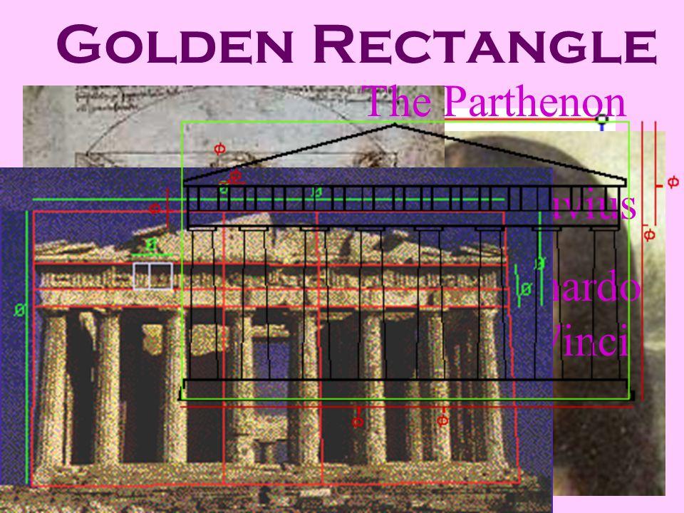 Golden Rectangle Leonardo Da Vinci Mona Lisa Vitruvius Leonardo Da Vinci The Parthenon