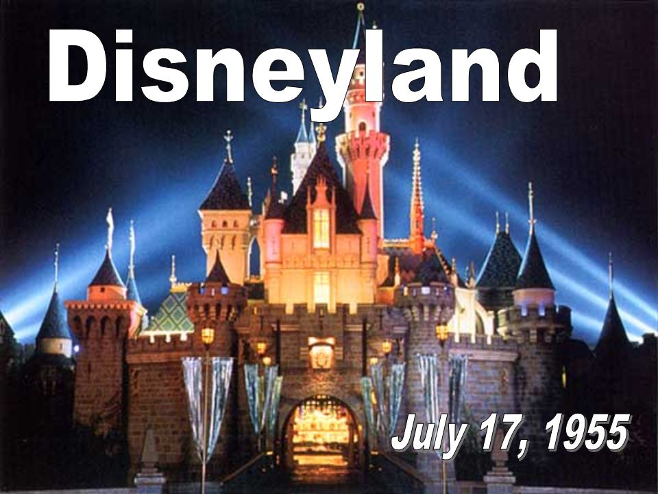 It all started with a mouse It began with a visionary named Walt Disney
