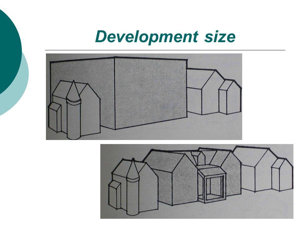Development size