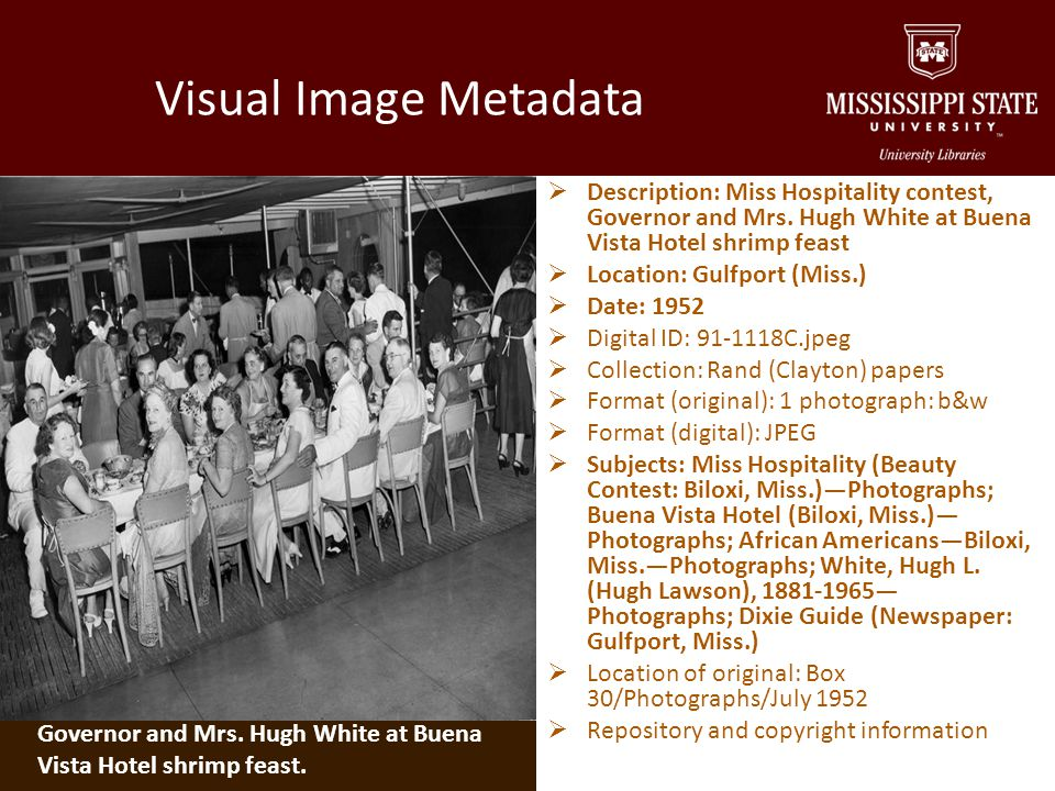 Metadata aids: Costume and background Hightower, Montgomery, Perkins, Castles and Stiles papers.