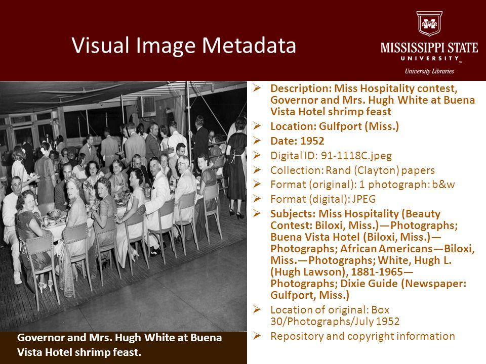 Visual Image Metadata Description: Miss Hospitality contest, Governor and Mrs.