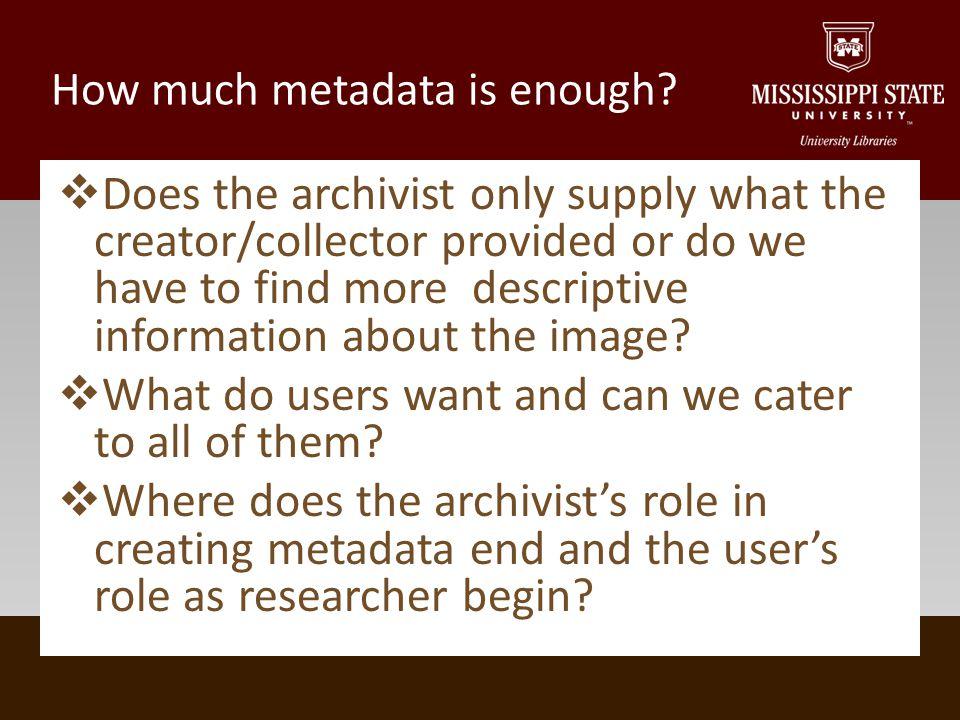 Finding a missing piece of descriptive metadata U.S.