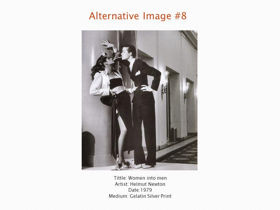 Tittle: Women into men Artist: Helmut Newton Date:1979 Medium: Gelatin Silver Print
