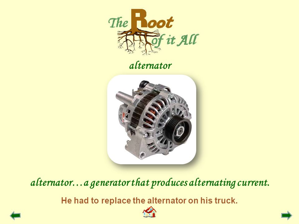 He had to replace the alternator on his truck.