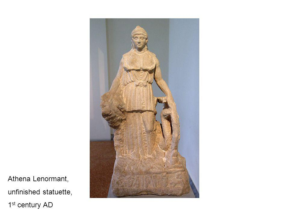 Athena Lenormant, unfinished statuette, 1 st century AD