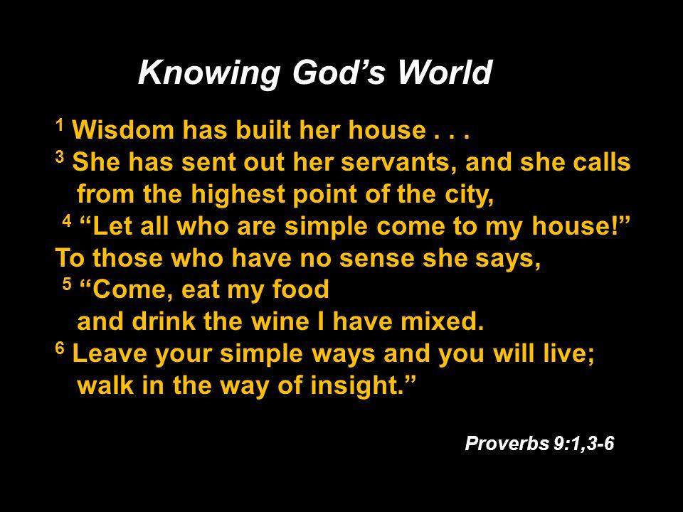 1 Wisdom has built her house...