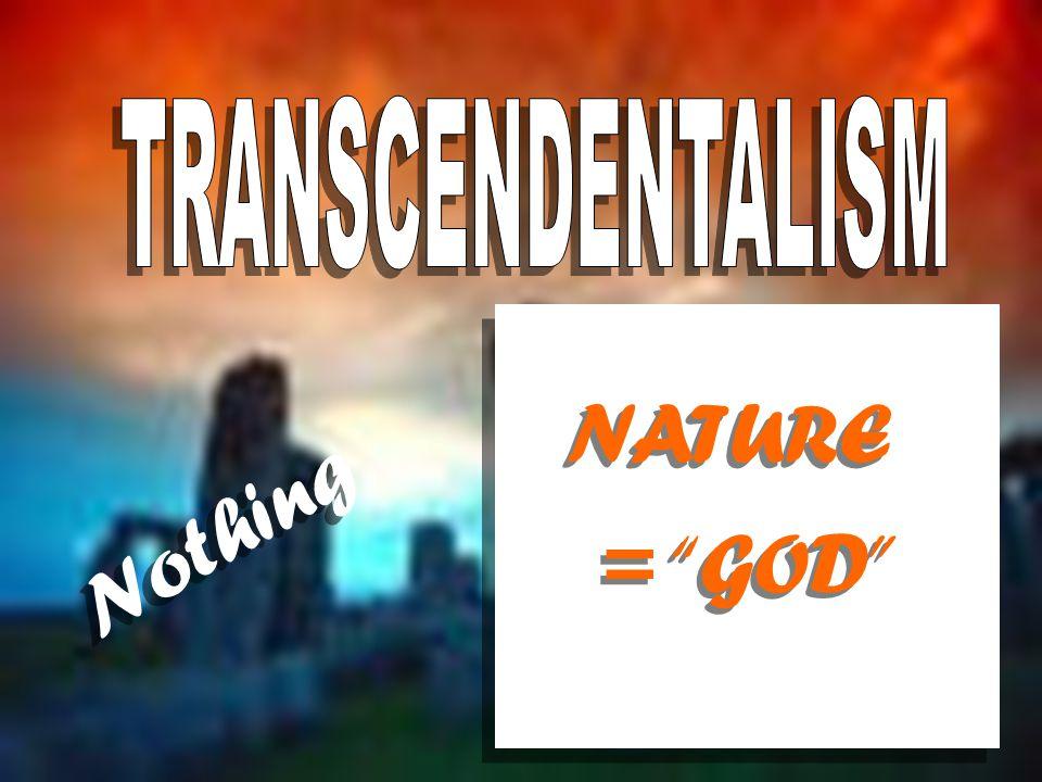 = GOD NATURE Nothing