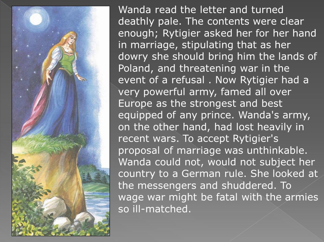 Wanda read the letter and turned deathly pale.