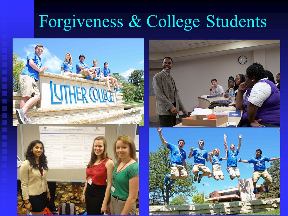 Forgiveness & College Students