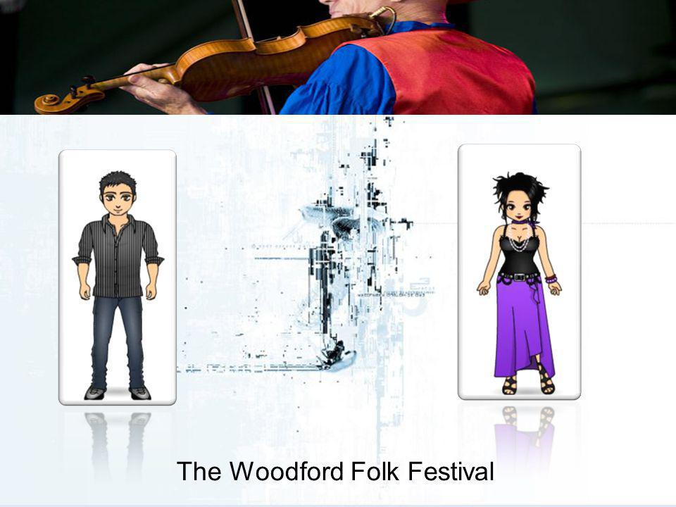 The Woodford Folk Festival There are some 120,000 people attending the Festival site over the 6 days of the event