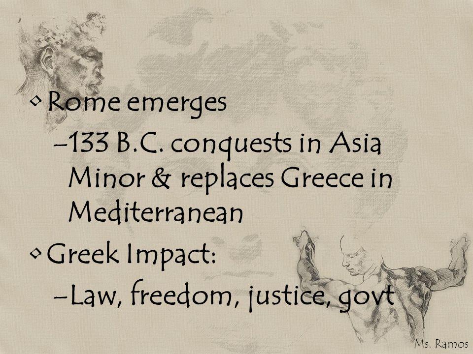Rome emerges –133 B.C.