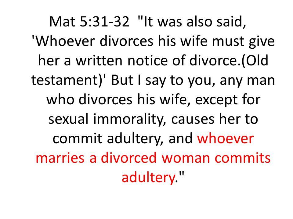 Mat 5:31-32