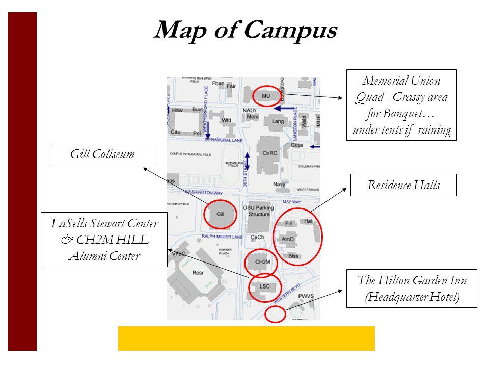 Map of Campus Dixon Rec Center Pool, Hot tub, bike rentals, workout facility Monroe Avenue Restaurants, Bars, Coffee Shops