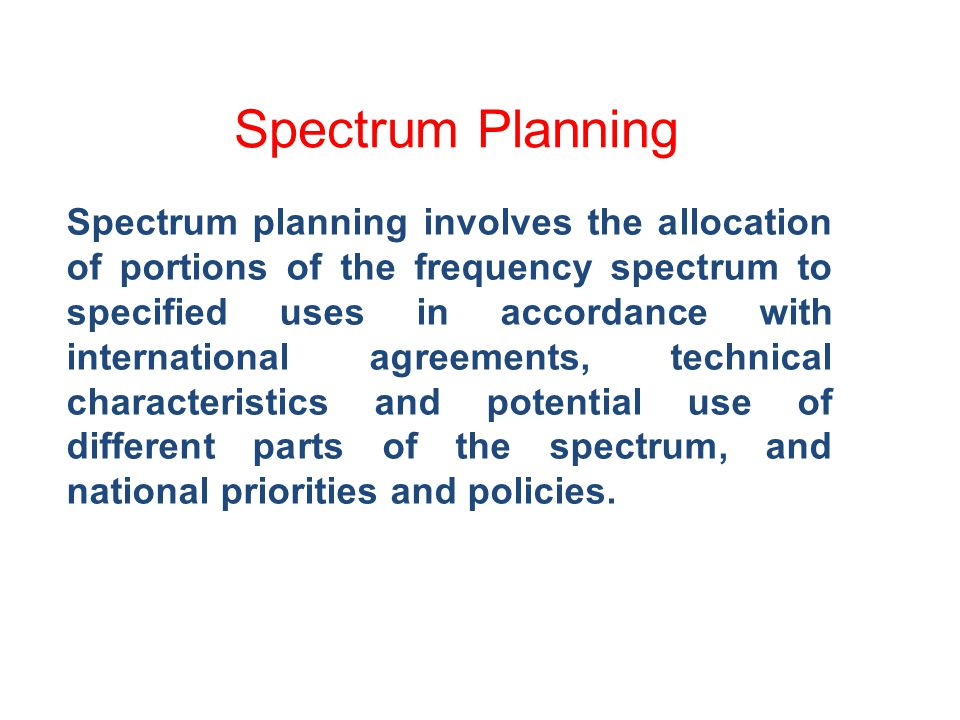 Spectrum Re-farming Fund who pays for the costs of transitioning existing users to new frequencies.