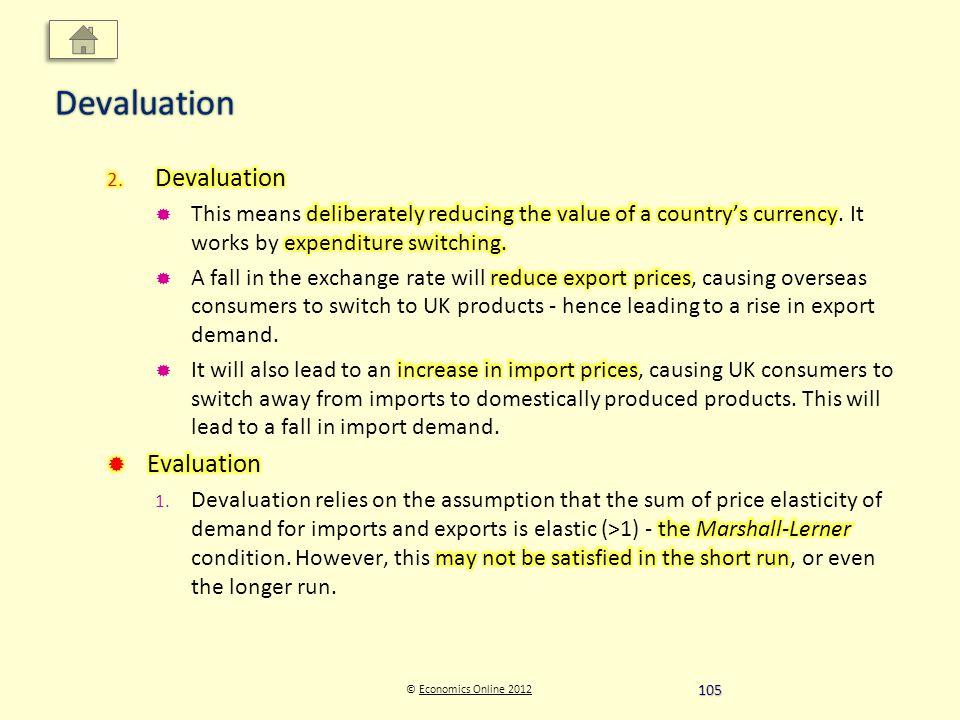 © Economics Online 2012Economics Online 2012Devaluation 105