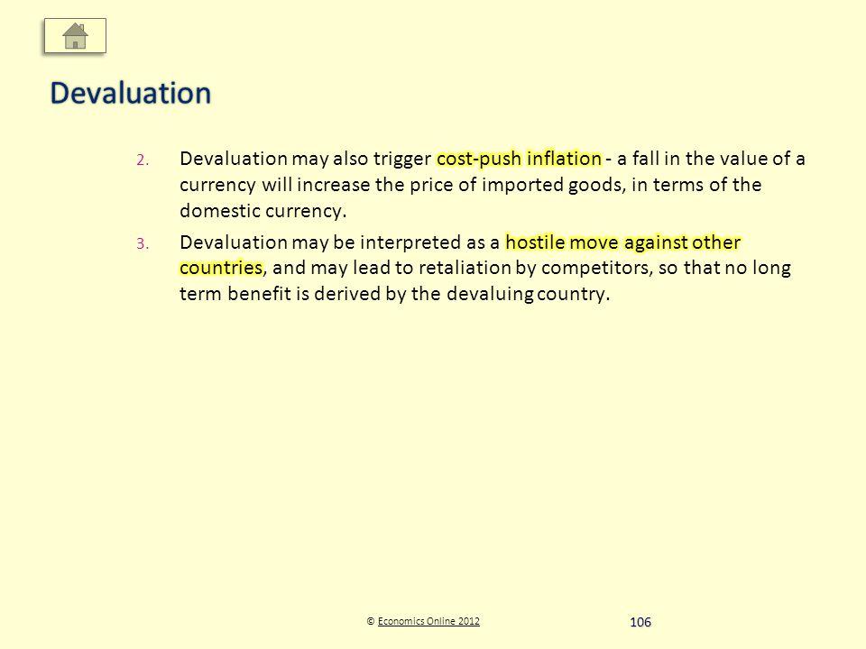 © Economics Online 2012Economics Online 2012Devaluation 106