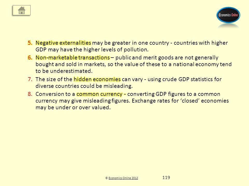 © Economics Online 2012Economics Online 2012 119