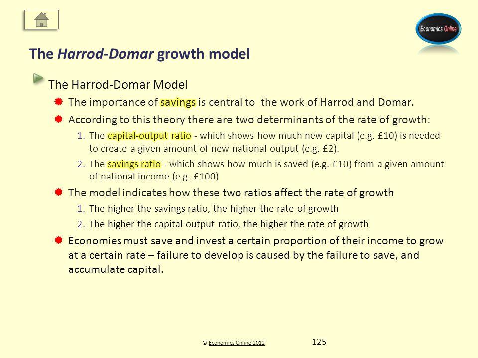 © Economics Online 2012Economics Online 2012 The Harrod-Domar growth model 125