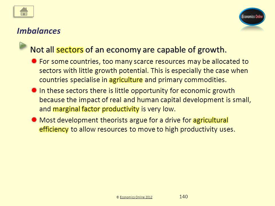 © Economics Online 2012Economics Online 2012 Imbalances 140