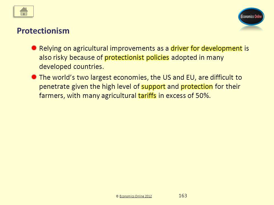 © Economics Online 2012Economics Online 2012 Protectionism 163
