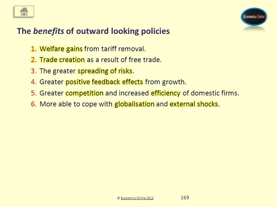 © Economics Online 2012Economics Online 2012 The benefits of outward looking policies 169