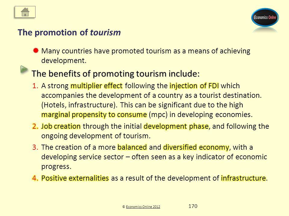 © Economics Online 2012Economics Online 2012 The promotion of tourism 170