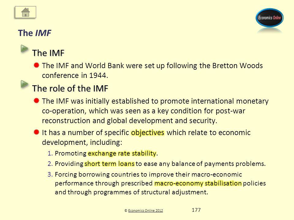 © Economics Online 2012Economics Online 2012 The IMF 177
