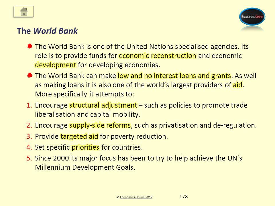 © Economics Online 2012Economics Online 2012 The World Bank 178