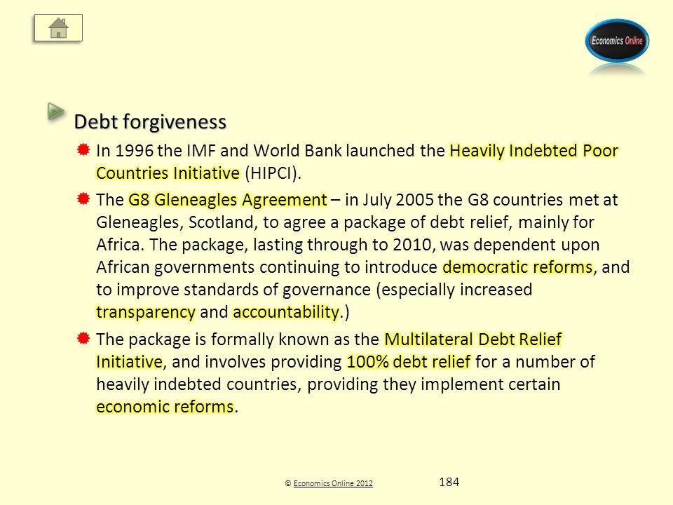 © Economics Online 2012Economics Online 2012 184