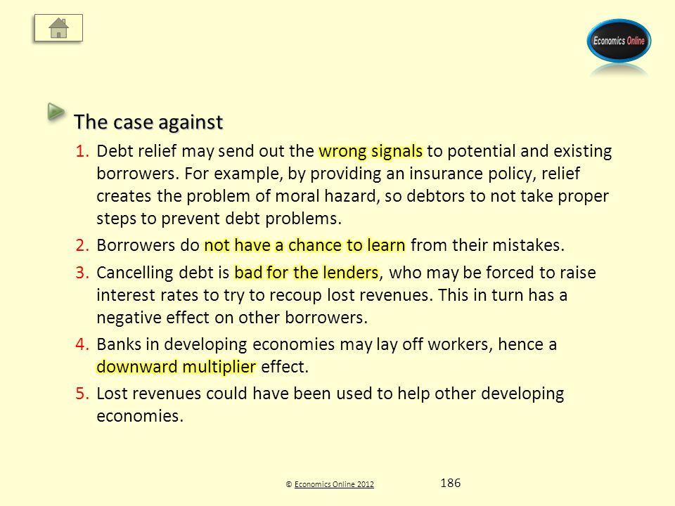© Economics Online 2012Economics Online 2012 186