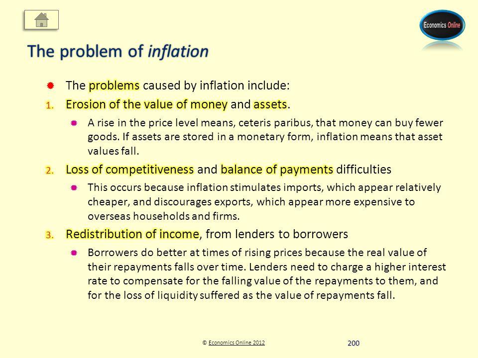© Economics Online 2012Economics Online 2012 The problem of inflation 200