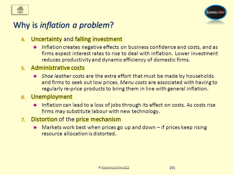 © Economics Online 2012Economics Online 2012 Why is inflation a problem 201
