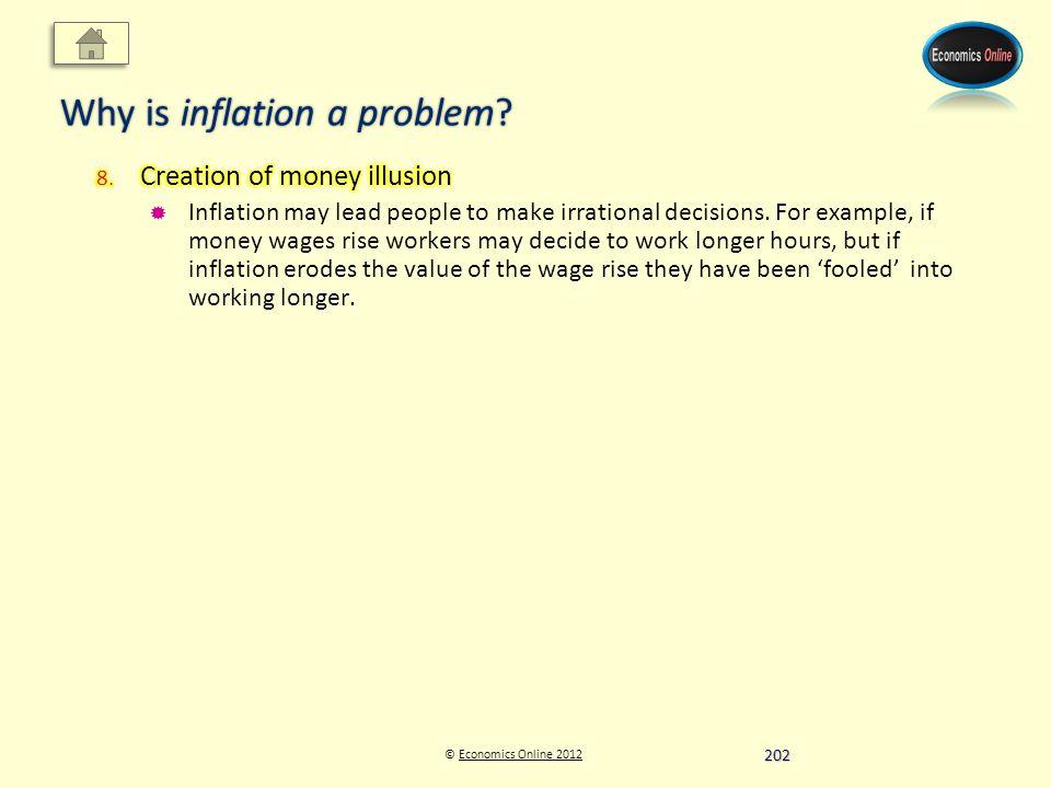 © Economics Online 2012Economics Online 2012 Why is inflation a problem 202
