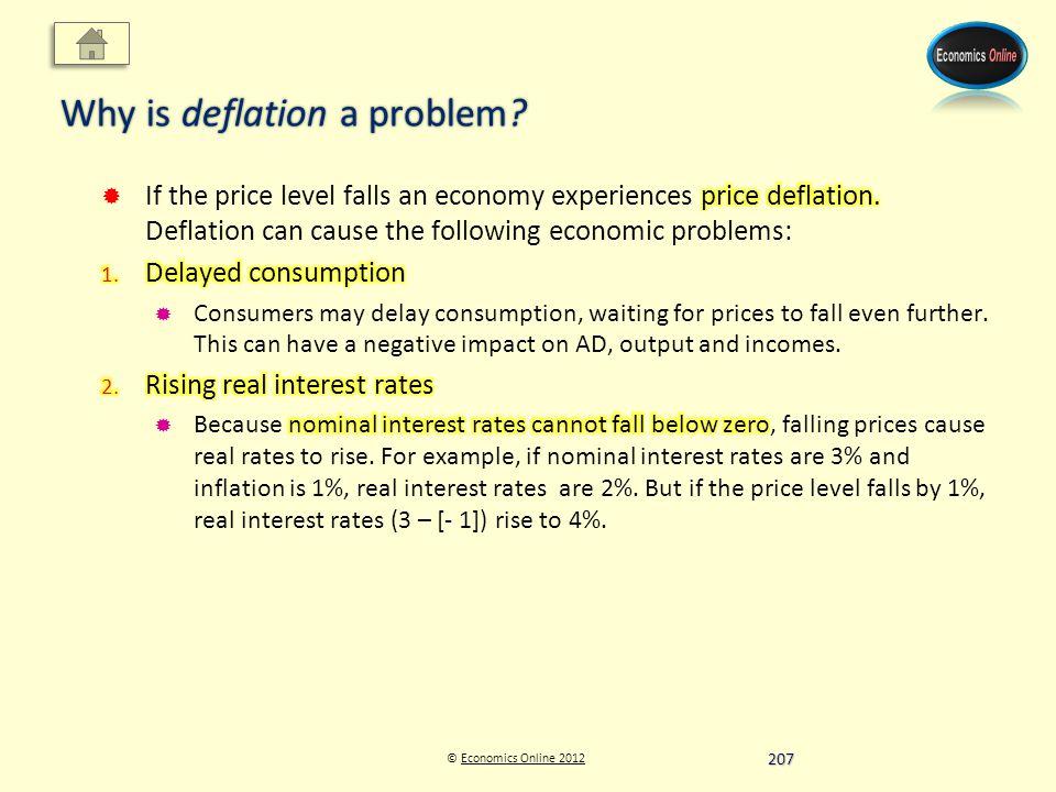 © Economics Online 2012Economics Online 2012 Why is deflation a problem 207